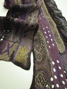 Nuno felted scarf by Andrea Graham