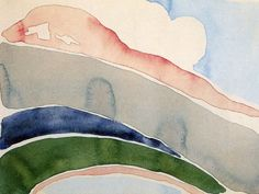 lesthetiquedelinventaire:  Georgia O'Keeffe Pink and Green Mountains, No. II