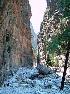 Samaria Gorge Crete Greece the 17 km hike is breathtaking and a must when visiting Chania Crete