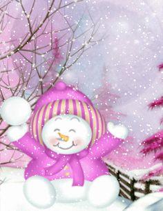 Magical Christmas, Christmas Snowman, Beautiful Christmas, Winter Christmas, Christmas Ornaments, Snowmen Pictures, Christmas Pictures, Christmas Paintings On Canvas, Christmas Cartoons