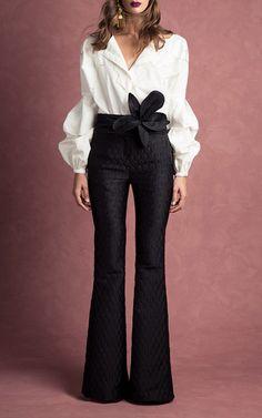Anna Beth Gathered Sleeve Shirt by JOHANNA ORTIZ for Preorder on Moda Operandi