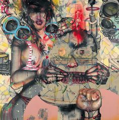 David Choe Pity Party 2008  Spray paint, oil paint, house paint, pen, ink, colour pencil, acrylic and crayon