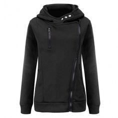New Women Long Sleeve Hooded Hoodie Thick Cotton Outwear Casual Outdoor Slim Sweatshirt