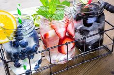 11 Mouthwatering infused-water recipes for summer. Try these infused-water ideas to give your body some much needed benefits. Infused Water Recipes, Fruit Infused Water, Fruit Water, Infused Waters, Fresh Fruit, Fresh Herbs, Detox Drinks, Healthy Drinks, Healthy Foods