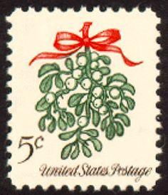 US Christmas stamp ~  Mistletoe