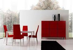 M s de 1000 ideas sobre sillas de comedor rojas en for Sillas rojas modernas