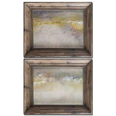 Mornings Ii, Iii, Set Of 2 By Grace Feyock: 31 In. X 25 Oil In. Painting Uttermost Wall Ar