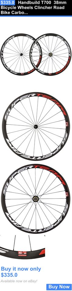 bicycle parts: Handbuild T700 38Mm Bicycle Wheels Clincher Road Bike Carbon Wheelset Usa Store BUY IT NOW ONLY: $335.0