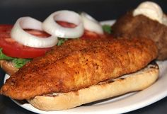 """The Cajun Catfish Sandwich recipe straight from the kitchens of Antioch! """"The dish has represented for me a study in comfort, simplicity, and ultimately satisfaction. Here it goes."""""""