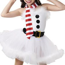 NEW ICE FIGURE SKATING DANCE BATON DRESS COSTUME CHRISTMAS HOLIDAY SNOW MAN