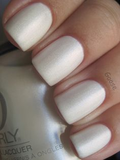 Orly Au Champagne.  i just want my nails to naturally look like that.