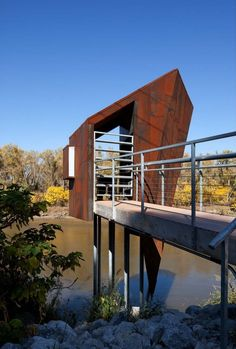 70 Square Foot 'River Probes' In Nebraska by Randy Brown Architects
