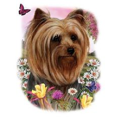 TSHIRT Yorkshire Terrier Floral Dog T by AlwaysInStitchesCo
