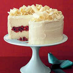 Cranberry Obsession Snow Cake | MyRecipes.com