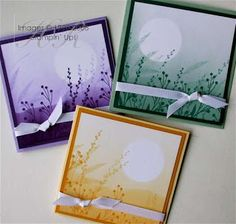 handmade cards from All Things Stampy: Brayering .... delightful monochromatic scenes created by brayering, masking and stamping ... Helen has excellent description of the process on her blog ... Stampin'Up!