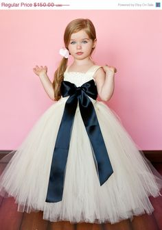 SALE Madelyn Flower Girl Tutu Dress by TheLittlePeaBoutique, Love this