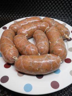 Chorizos caseros de pollo