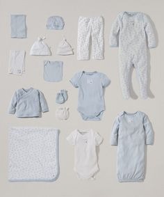 Love this White & Sky Organic 15-Piece Layette Set - Infant on #zulily! #zulilyfinds