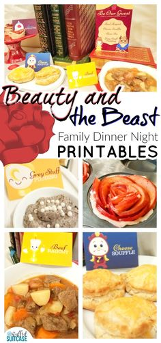 Beauty and the Beast family fun night | Disney | movie night ideas | family dinner ideas | family movie night | Beauty and the Beast party