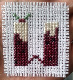 Christmas pudding alphabet sampler counted by CraftwithCartwright