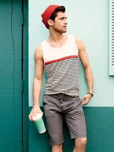 Summer dress looks hombre Fashion Moda, Look Fashion, Street Fashion, Mens Fashion, Style Casual, Casual Wear, Men Casual, My Style, Summer Wear
