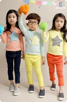 Big Star Long Sleeve Tee. Cool fashion for boys and girls aged 1-8 this spring at Color Me WHIMSY.