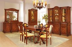 Mobila / Mobilier Sufragerie clasic masiv Premier Dinning Set, China Cabinet, Divider, Storage, Interior, Room, Furniture, Home Decor, Purse Storage