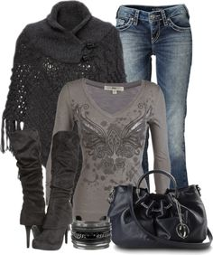 """""""Poncho Contest 1"""" by denise-schmeltzer ❤ liked on Polyvore"""