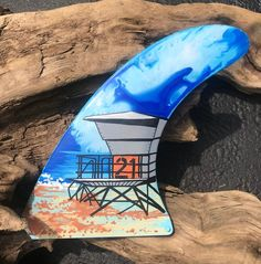 Items similar to Surfboard Fin Art on Etsy Wooden Surfboard, Surfboard Fins, Beach Design, Posca, Frame It, Handmade Wooden, Picasso, Surfing, Etsy