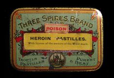Three Spices Brand Tropels and Pastilles – Purest & Best with POISON and Heroin Pastilles applied labels