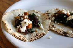 Kale and Onion Tacos with Guajillo Salsa