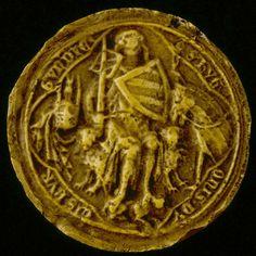 sceaux de bourgogne   1313 - contre-sceau d'Hugues V, duc de Bourgogne.
