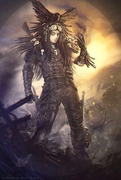 ArtStation - Echo, Istvan Straban  #mutant #BountyKiller #sentinel #crow #postapocalyptic #apocalyptic #mutant #BountyKiller #warrior #scifi #design #cyberpunk #shadowrun #concept #cardart #illustration #boardgame #cardgame #gameart #bookcover