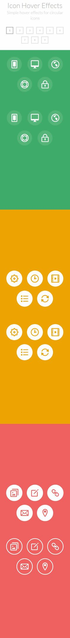 CSS3 Icon Hover Effects http://tympanus.net/Development/IconHoverEffects/