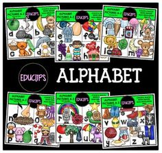 This set contains the images shown: Alphabet pictures from A to Z. There are 3 images for each letters. Please note: the letters included on the product cover are not included in the download. Files contain images only. The images for 'note' and 'xray' come in black and white only.a - apple, anchor, antb - banana, bee, bearc - cat, cake, crayond - duck, dolphin, doge - elephant, egg, eyef - fly, fish, footg - grapes, glue, girlh - house, heart, handi - igloo, ice, ice creamj - jar, jelly…