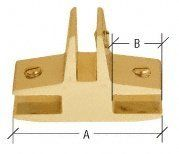 """CRL Gold Anodized Three-Way 90 Degree """"T"""" Standard Connector for 3/8"""" Glass by C.R. Laurence. $12.43. Available for 3/8"""", 1/2"""", and 3/4"""" (10, 12, and 19 mm) Glass in Anodized Chrome or Gold Finishes Select From Four Different Styles Ideal for Glass Furniture These CRL Anodized Satndard Glass Connectors for 3/8"""" (10 mm) Glass are the perfect solution for connecting panels on glass tables, display stands and lamp pedestals. Used for connecting three panels together at ..."""