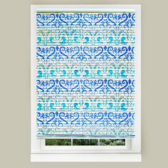Easy stenciled mini blinds with Americana Outdoor Living paints
