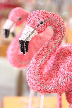Beaded flamingo