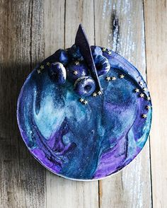 Feeling a little spacey this morning ✨✨ #galaxycheesecake