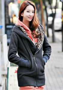 Long Hoodie with Tiger Prints @ $79 SGD only! (Available in: Camel, Black, Dark Grey)