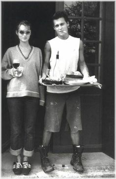 Johnny Depp with Kate Moss, if only they were still together...