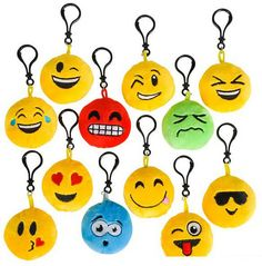 Emoji Plush Pillow with Clip On.This factory sealed case contains 432 pieces of…
