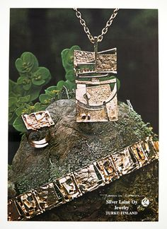"""Modern Art"" bronze jewelries By Jorma Laine"