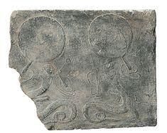 Ladrillo con Fu Xi y Nu Wa | china | dinastía Han del Este (25-220) | el Met