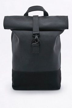 Loom Matte Black Rolltop Backpack