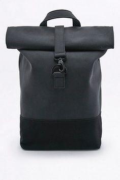 Loom Matte Black Rolltop Backpack