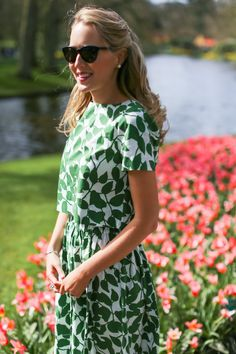 Kate Spade Crop Top and Flare Skirt in the Keukenhof GardensMEMORANDUM, formerly The Classy Cubicle