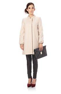 Wonderland Wool Collarless Coat