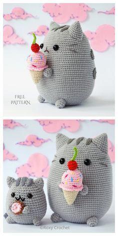 Crochet Kawaii, Chat Crochet, Crochet Mignon, Crochet Diy, Crochet Crafts, Crochet Projects, Crochet Cat Pattern, Crochet Animal Patterns, Crochet Patterns Amigurumi