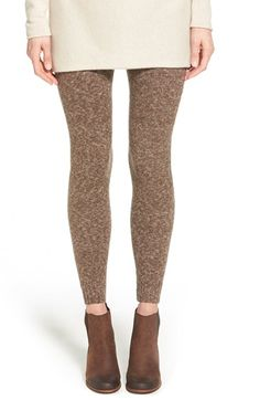 Hue Tweed Sweater Leggings available at #Nordstrom